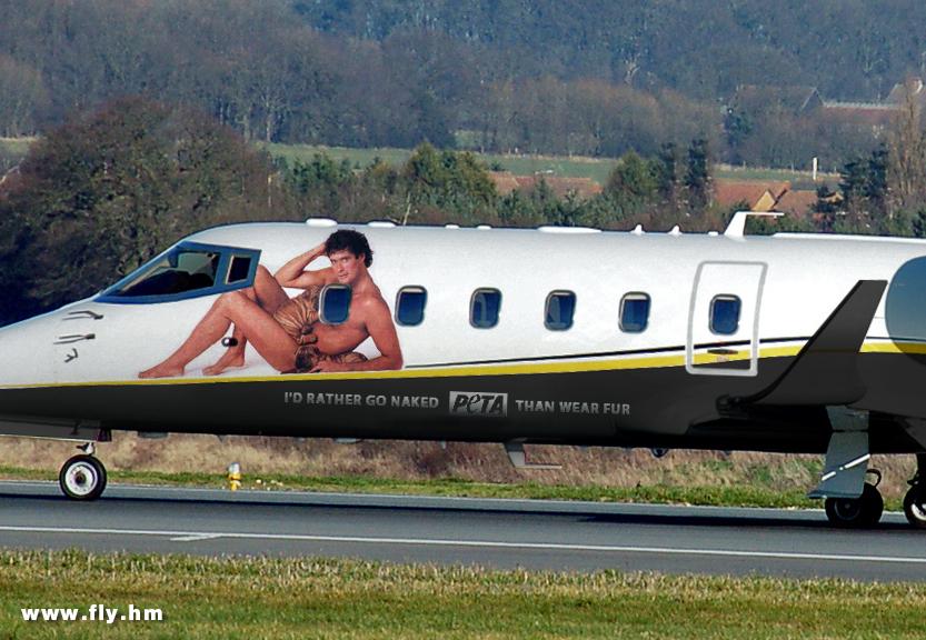 The flying Hoff!