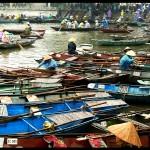 schwimmender Markt in Vietnam
